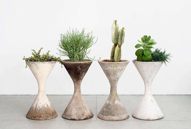 willy guhl hourglass planters
