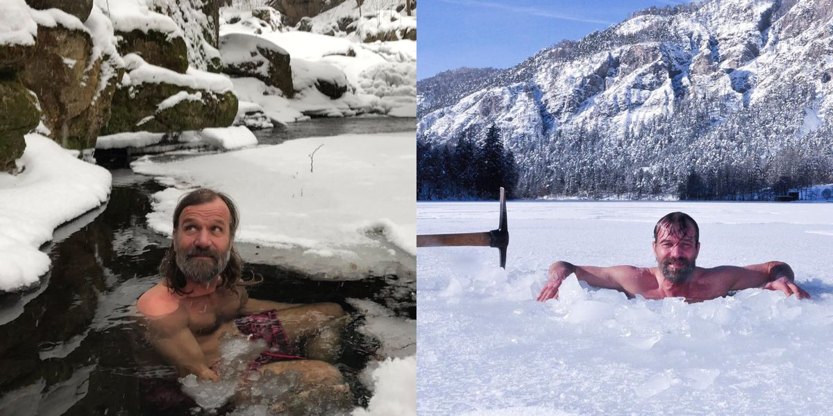 """Iceman"" Wim Hof's Technique to Stay Warm in Cold Temperatures"