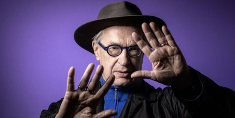 topshot   german director wim wenders poses during a photo session at the grand palais in paris, on april 18, 2019 photo by joel saget  afp        photo credit should read joel sagetafp via getty images