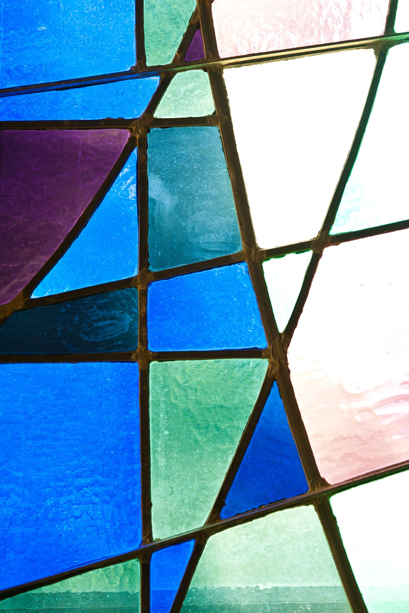 Stained Glass Window in Blue