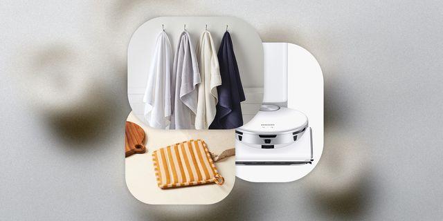 towels, vacuum, placemats