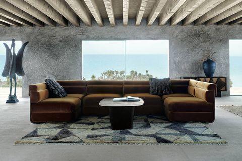 living room designed by cb2 x kravitz