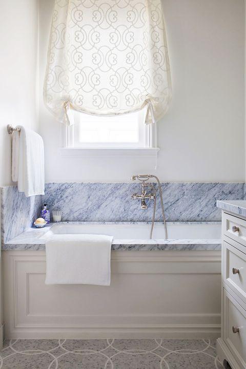 43 Best Window Treatment Ideas, Large Bathroom Window Treatment Ideas