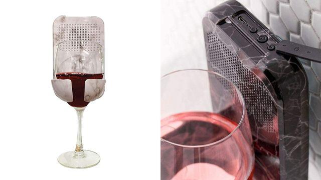 wine holder and speaker combo