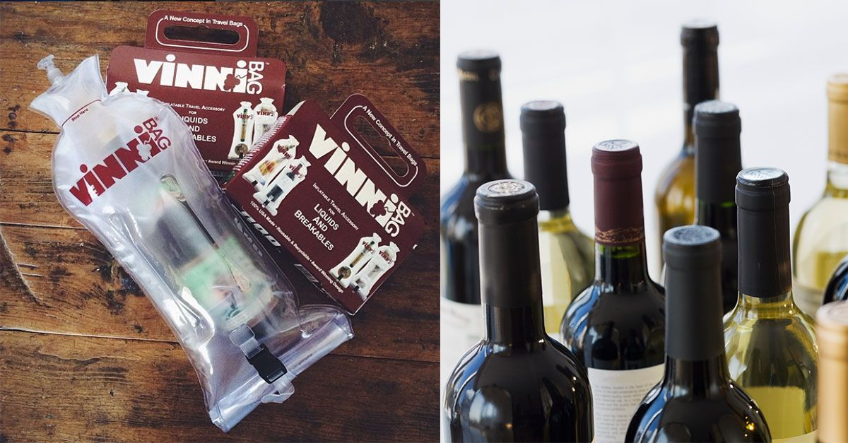f53410761e07 Don't Travel Without This Inflatable Wine Bottle Bag