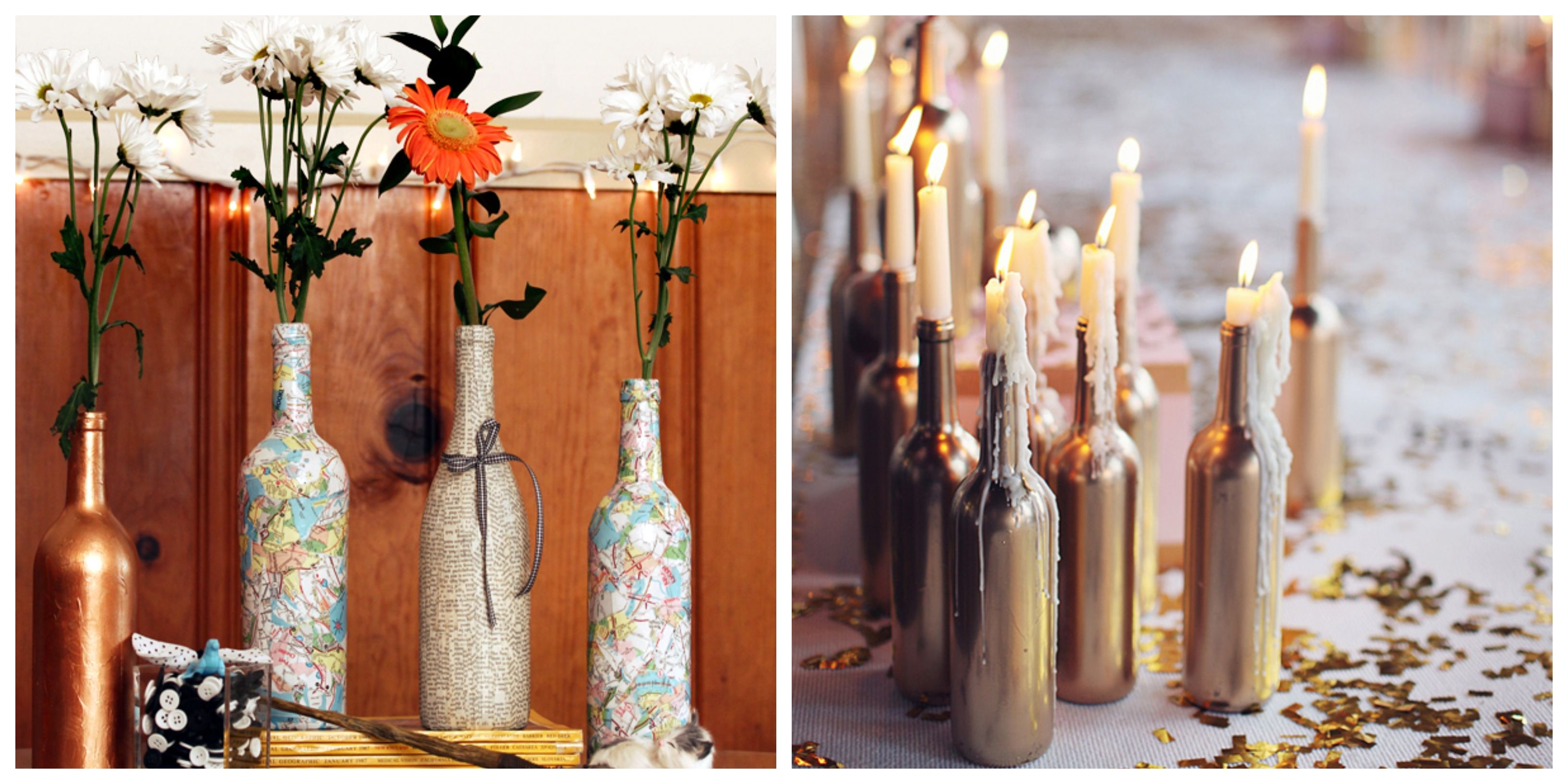 23 Unique Wine Bottle Centerpieces for Dressing up Your Home on a Budget