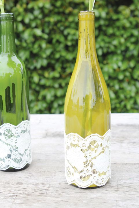 wine bottle crafts lace