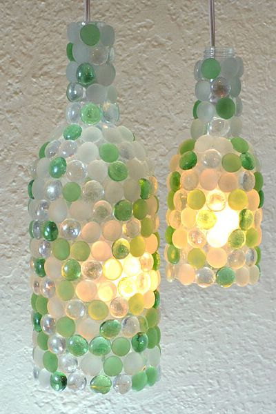 wine bottle crafts lights