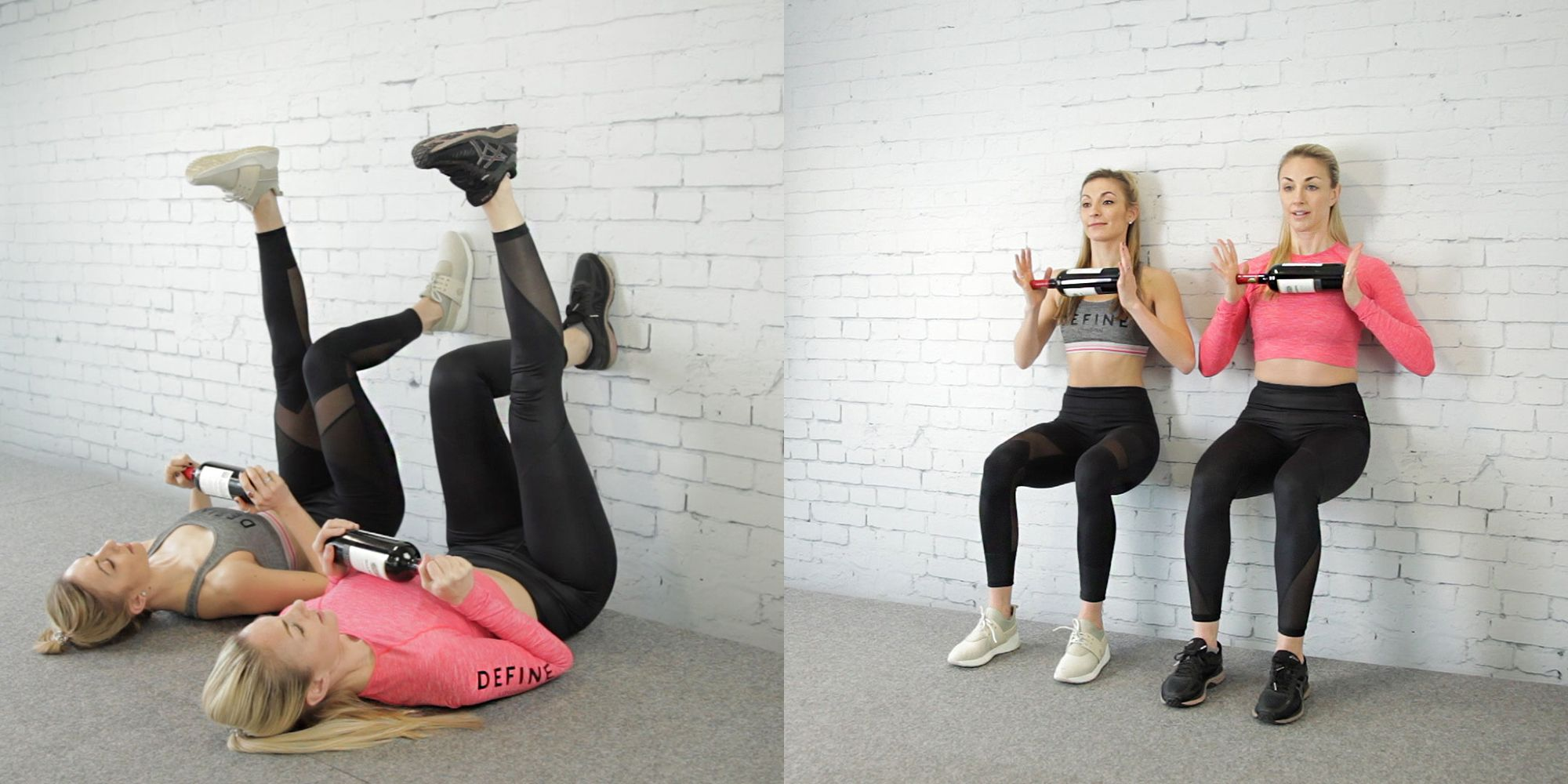 11 workouts using wine bottles instead of weights