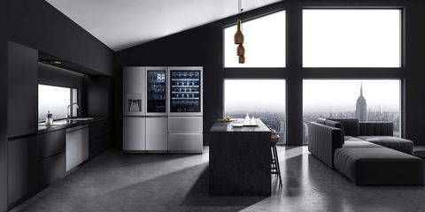 wine cellar e frigorifero di lg signature