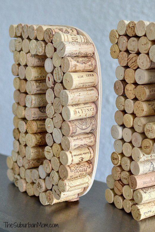 wine cork crafts monogram