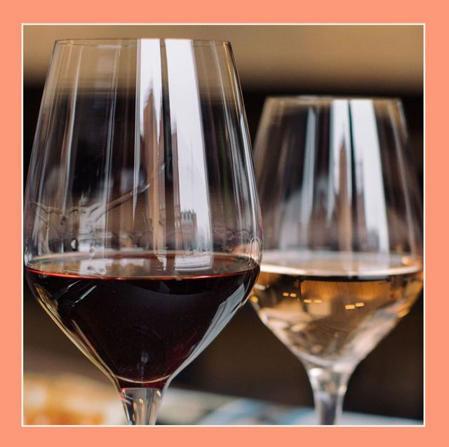 close up of two wine glasses