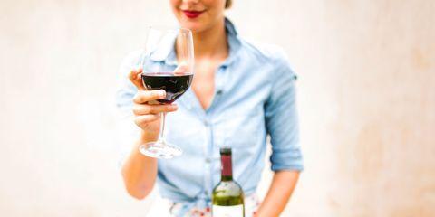 Drink, Wine glass, Alcohol, Glass, Wine, Red wine, Alcoholic beverage, Wine cocktail, Stemware, Wine bottle,