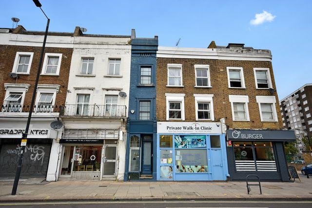blue skinny home in london