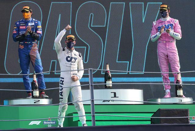auto prix f1 ita podium