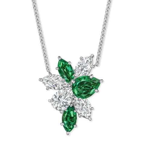 harry winston cluster necklace