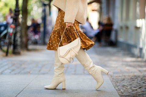street style   winter boots and dior bag