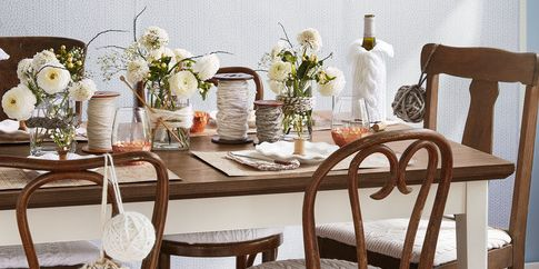 Diy Winter Table Decorations, White Centerpieces For Dining Room Table