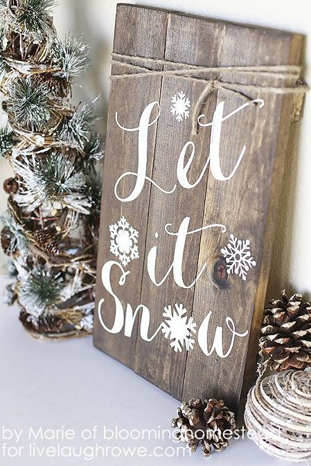 winter crafts let it snow sign
