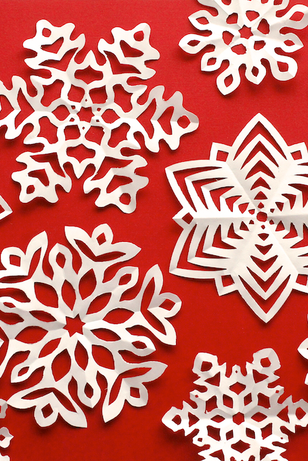 winter crafts paper snowflakes