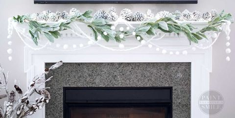 winter crafts pom pom winter garland