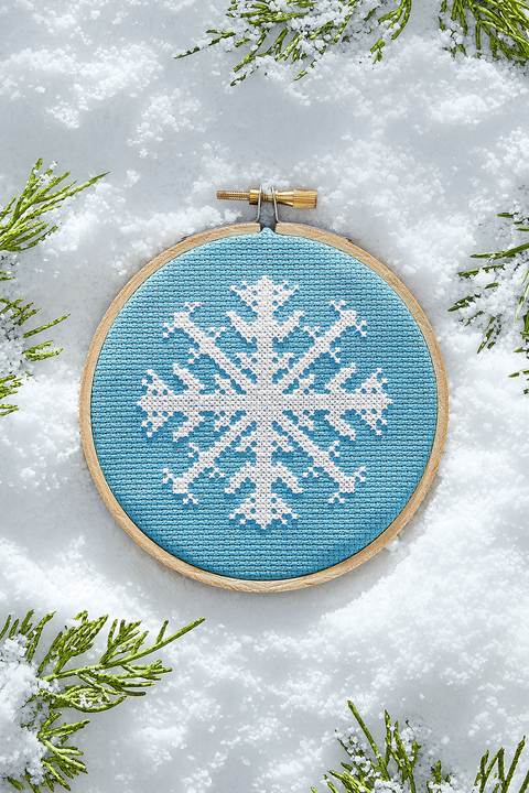 winter crafts snowflake cross stitch