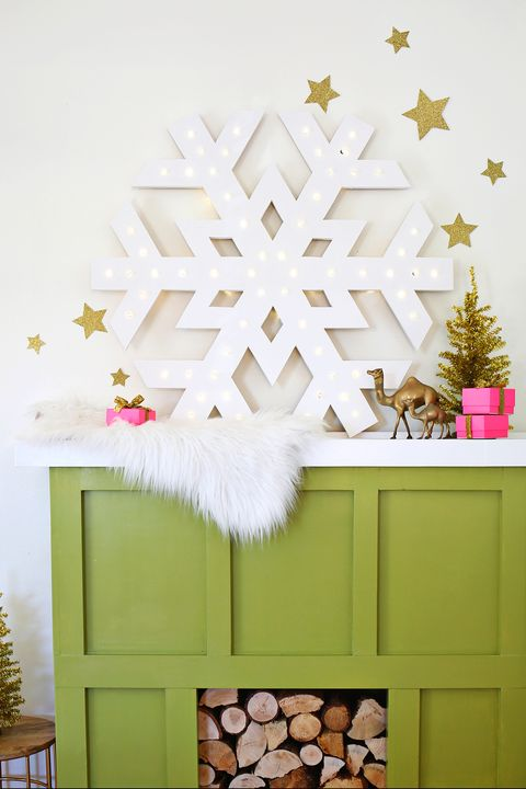 winter crafts snowflake marquee light