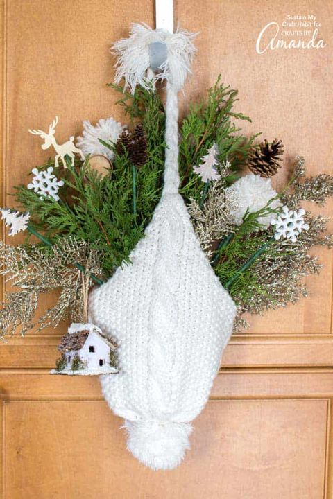 winter crafts winter hat door hanging