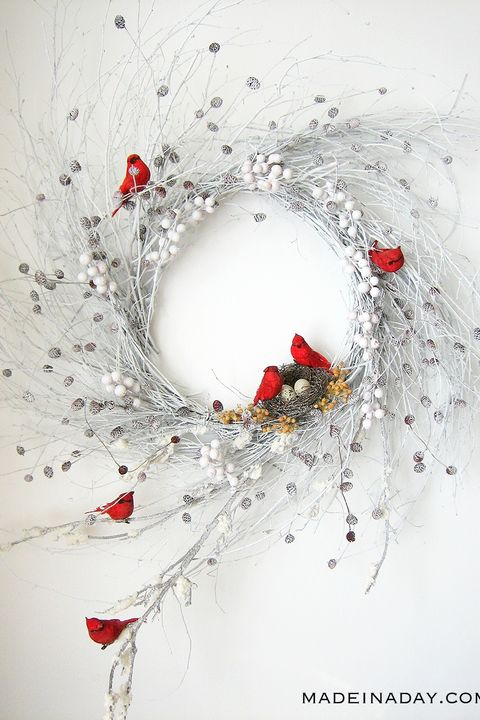 winter crafts wispy wreath