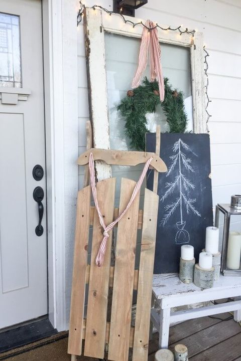 winter crafts wooden sled