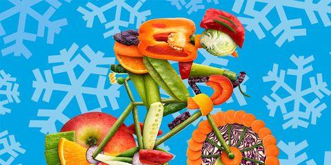 inter cyclist diet vegetables fruit