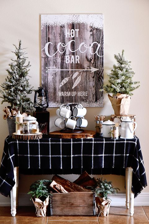 winter decorating ideas hot cocoa bar
