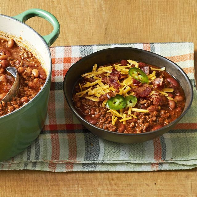 winter dinner ideas beef and bean chili