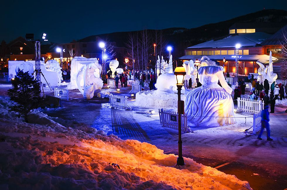 Snow Sculpture Championships in Breckenridge, Colorado - Best Winter Festivals