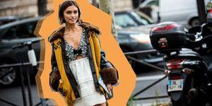 Winterjas op straat tijdens fashion week
