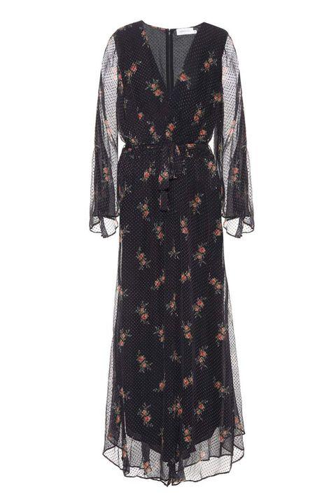 Sleeve, Textile, Dress, Pattern, Fashion, One-piece garment, Maroon, Day dress, Fashion design, Visual arts,