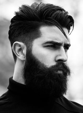Hair, Facial hair, Beard, Face, Hairstyle, Moustache, Chin, Nose, Black-and-white, Forehead,