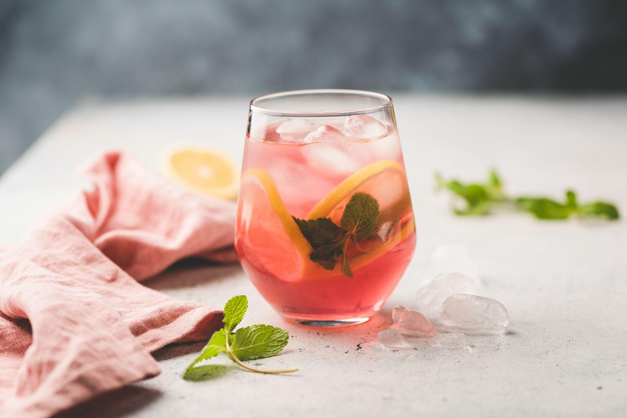 Winter Mojito cocktail