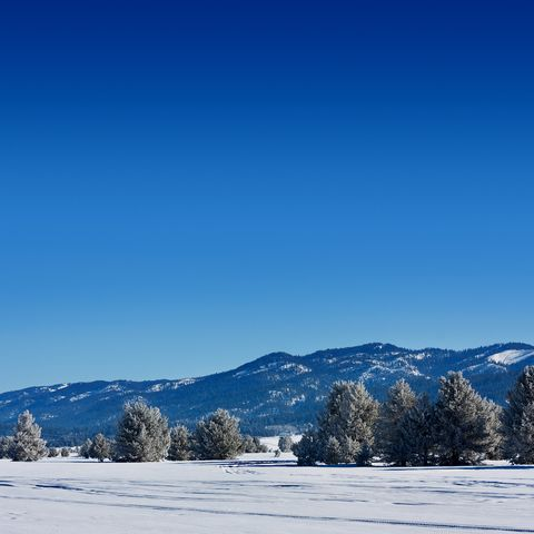 winter mountain landscape in mccall, idaho
