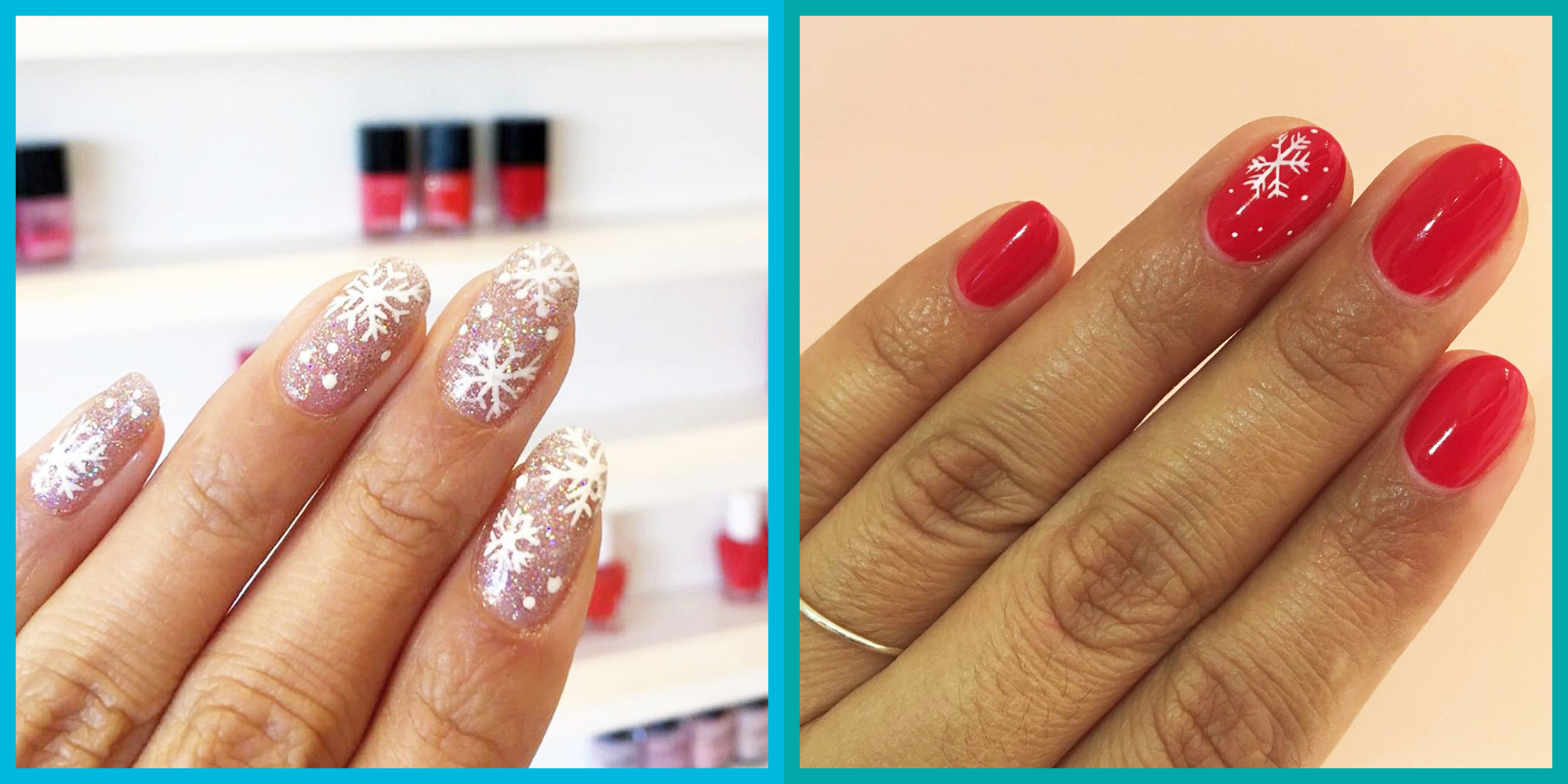 10 Snowflake Nails and Design Ideas to Copy This Winter 2019
