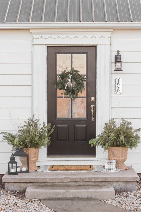 winter planters outdoor christmas decorations