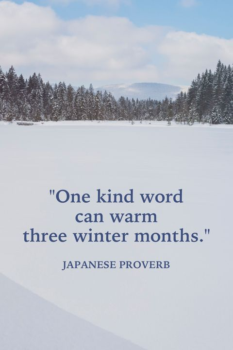 Winter Quotes Japanese Proverb