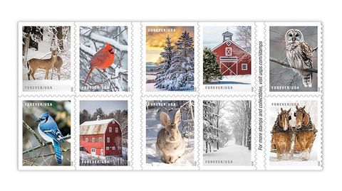 winter scenes usps holiday stamps 2020