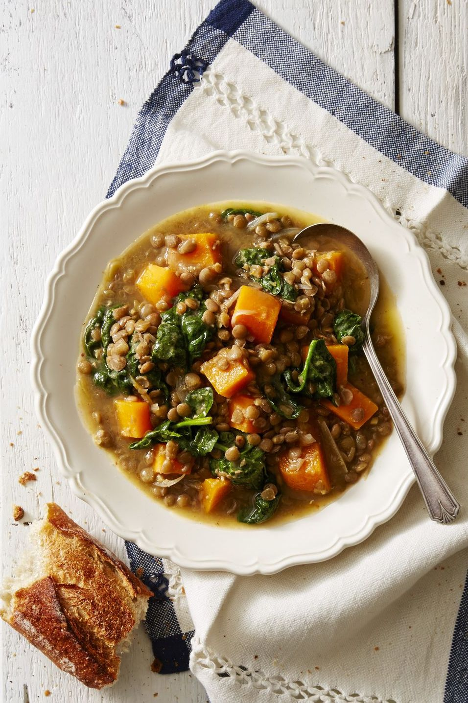 Pressure Cooker Winter Squash and Lentil Stew - Instant Pot Soups