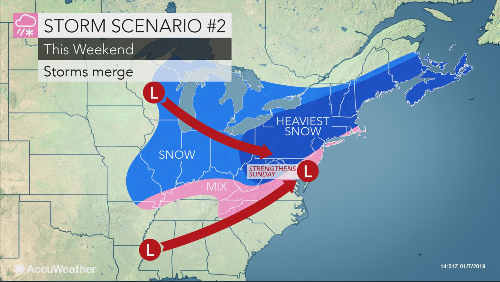 Accuweather Usa Map.Accuweather Reports Snowstorm To Hit Ohio Valley South And Northeast
