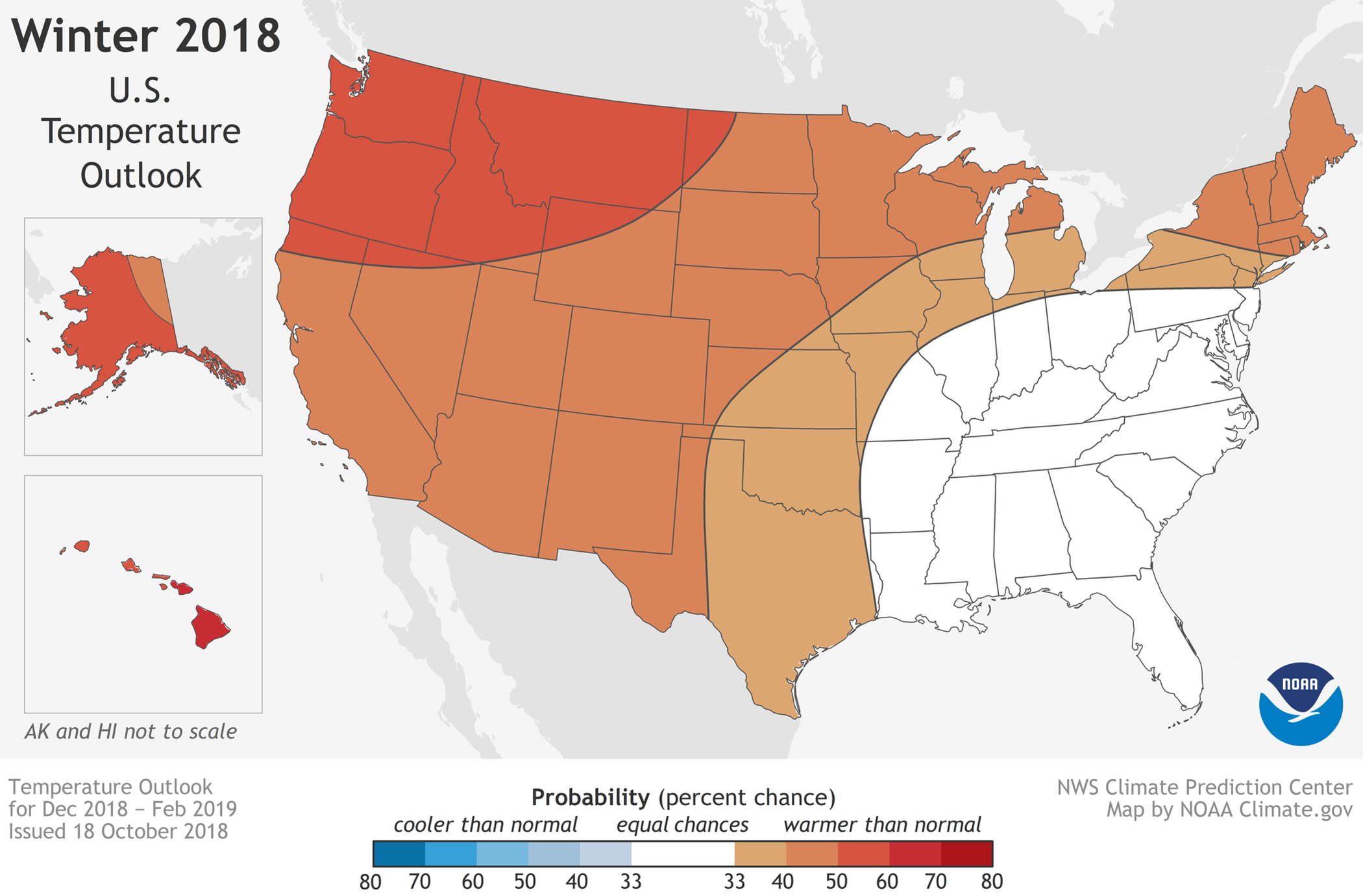 Winter 2019 Weather Predictions - NOAA Forecasts Warmer Winter in ...