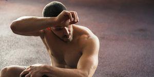 Wiping sweat