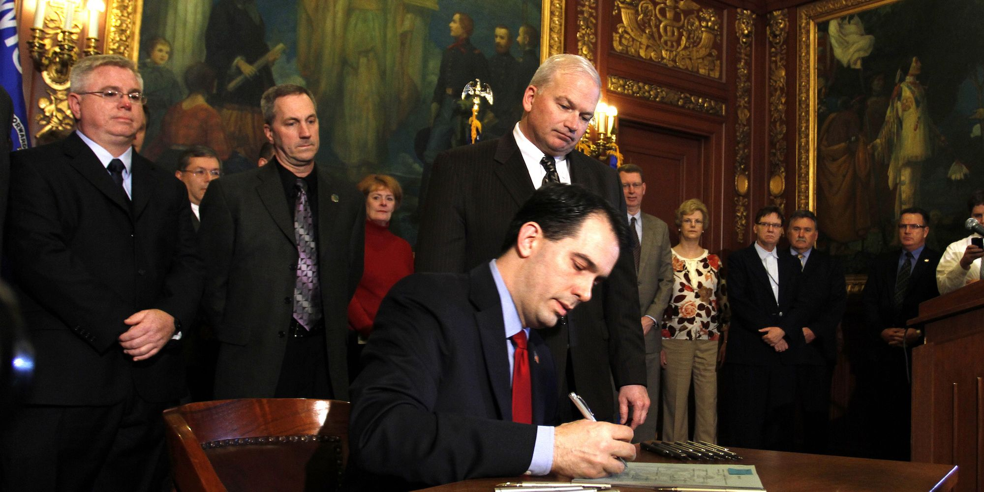 USA - Politics - Wisconsin Budget Legislation Protests
