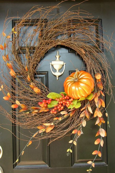 diy fall wreath grapevine