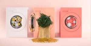 wit klepje wasmachine